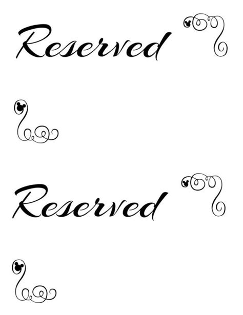 Reserved Tent Card Template by Reserved Table Sign Template Free Brokeasshome
