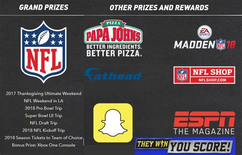 Espn Gift Card - pepsi nfl they win you score giveaway millions of prizes include free papa john s