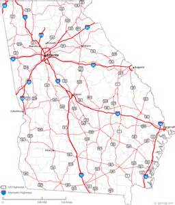 map with counties and highways map of