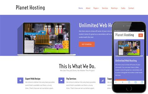 free hosting templates 13 free web hosting bootstrap responsive templates