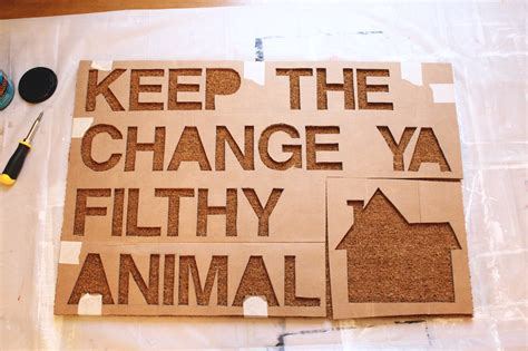 Keep The Change Ya Filthy Animal Doormat by Home Alone Inspired Doormat The Surznick Common Room
