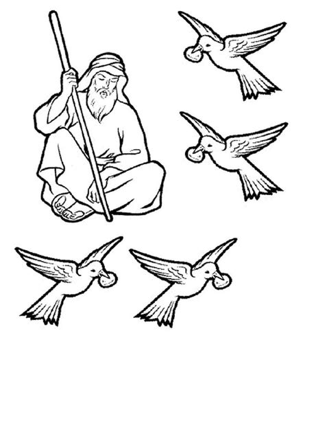 coloring page for elijah and the ravens elijah and the ravens bible crafts and lessons sunday