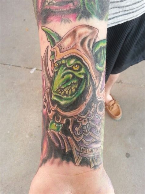 iron lotus tattoo world of warcraft goblin by jeremiah klein at iron