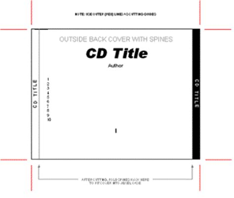 cd spine template amf cd dvd and label creator 3 8 printer