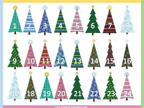 printable christmas tree countdown free printable advent calendars