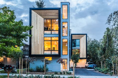 modular homes seattle modern prefab modular townhouses designed for urban living