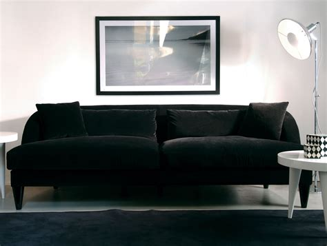 black fabric sofa nella vetrina elle modern italian upholstered black fabric