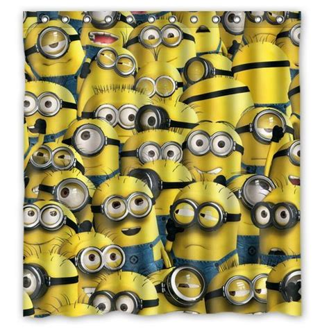 minion curtains best minion shower curtains for your bathroom
