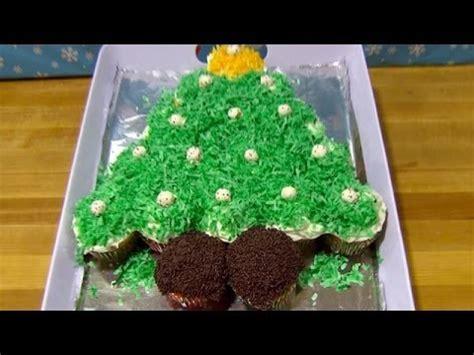 pull apart cupcake christmas tree youtube