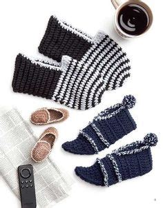 fun house slippers socks and slippers crochet patterns on pinterest learn to crochet hooked on crochet