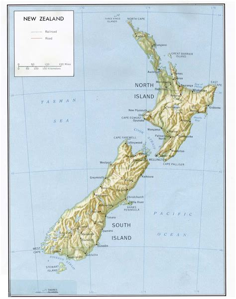 mapas de nueva zelanda