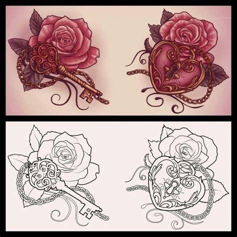 rose lock and key tattoos best 25 locket tattoos ideas on locket
