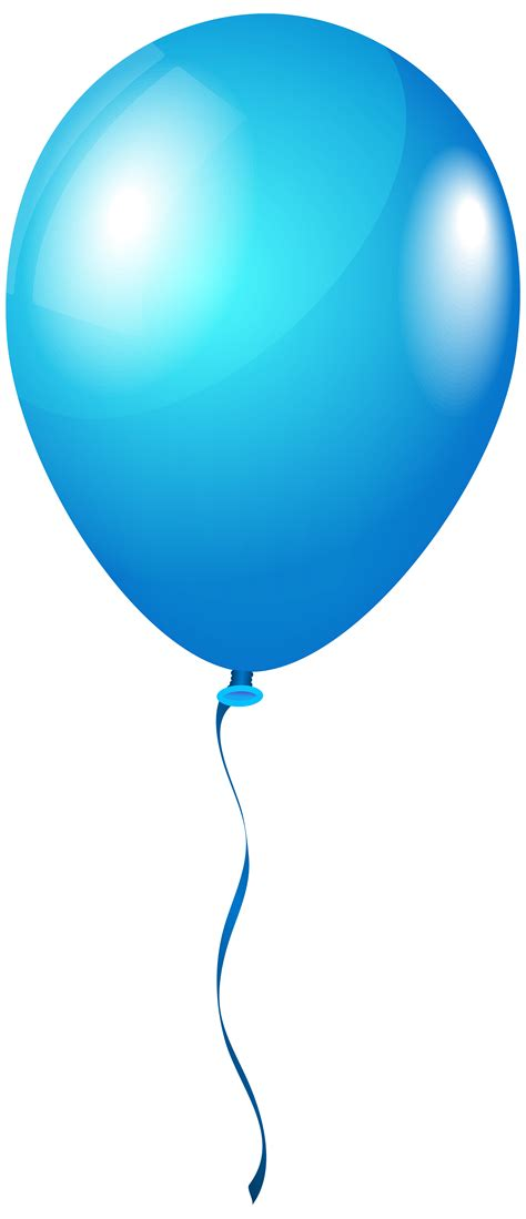blue clip blue balloon clipart png clipground