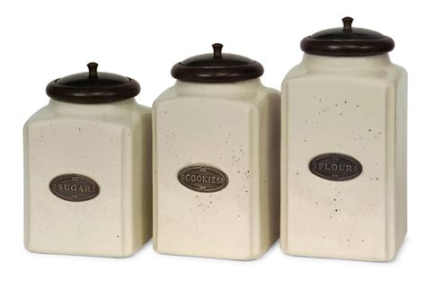 pottery canisters kitchen kitchen canister sets walmart