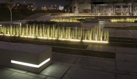 Landscape Architecture Lighting Bgu Entrance Square By Chyutin Architects Dezeen