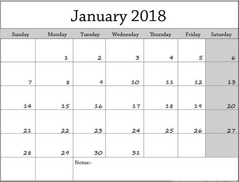 printable calendar 2018 fillable january 2018 calendar fillable printable
