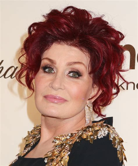 back view of sharob osbournes hair sharon osbourne haircut on the talk short hairstyle 2013
