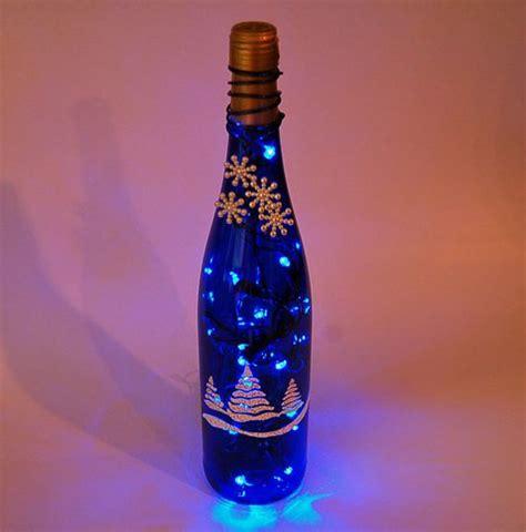 wine bottle christmas lights wine bottle light christmas trees blue and white blue