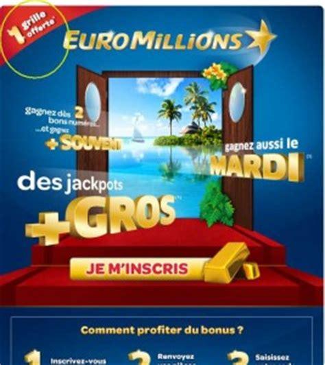 Grille D Euromillions by 1 Grille Euromillions Gratuite Sur Le Site De La Fdj