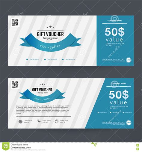 gift card flyer template gift voucher template design concept for gift coupon