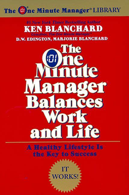 Book Report In One Minute Manager by The One Minute Manager Balances Work And Ken