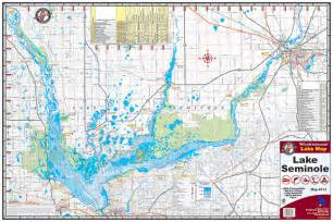 map of seminole florida lake seminole 313 kingfisher maps inc