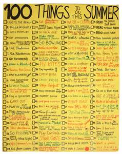 creativity to do list for the summer thorp