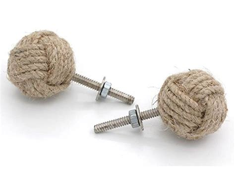 Jute Rope Knobs by Jute Rope Cabinet Knobs Nautical Decor Set Of Four