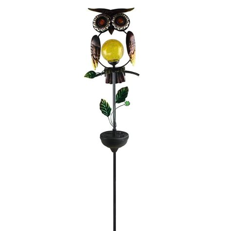 Moonrays Solar Powered White Led Owl Stake Light 92213 Moonray Solar Lights