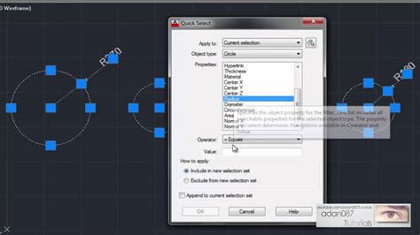 adan087 tutorials autocad select by radius