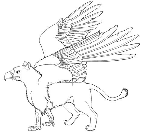 Griffin Coloring Pages Realistic Griffin Coloring Pages Coloring Pages