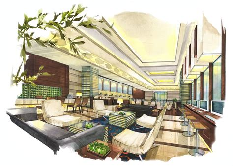 Hotel Coffee Shop Design | business lounge coffee shop rendering architecture