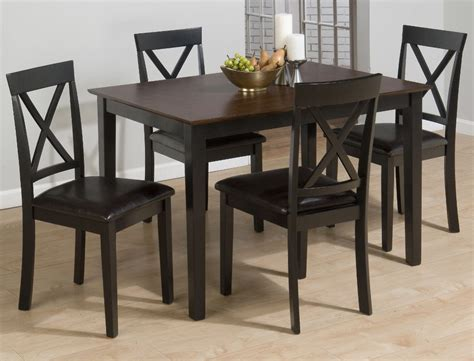5pc dining room set pedestal table and chairs buy homelegance casual 5 dining room sets 5pc picture