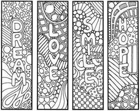bookmarks to color 9 best images of coloring pages free printable