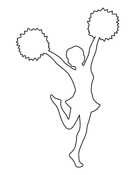 Printable Cheerleading Stencils | cheerleader pattern use the printable outline for crafts