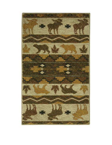 Bacova Rugs by Bacova Guild Dimensions Light Woods Rust Rug