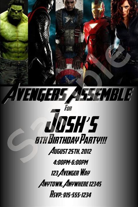40th birthday ideas avengers birthday invitation templates
