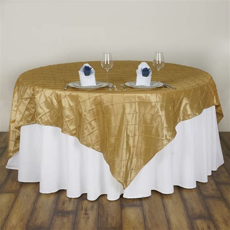 cheap table linens for weddings 6 pcs 72x72 quot square pintuck table overlays wedding linens