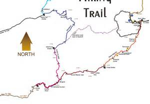 naukluft hiking trail map naukluft mappery