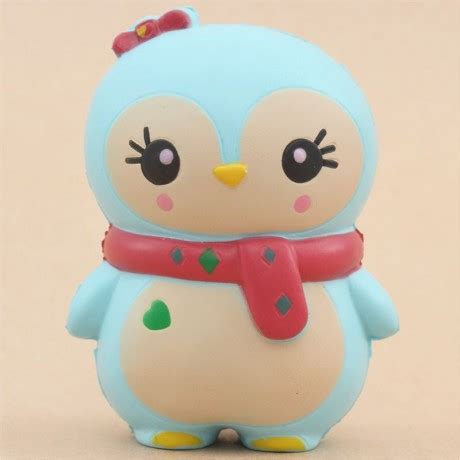 Squishy Ksi Jumbo Penguin adorable blue baby winter penguin scented squishy ksi