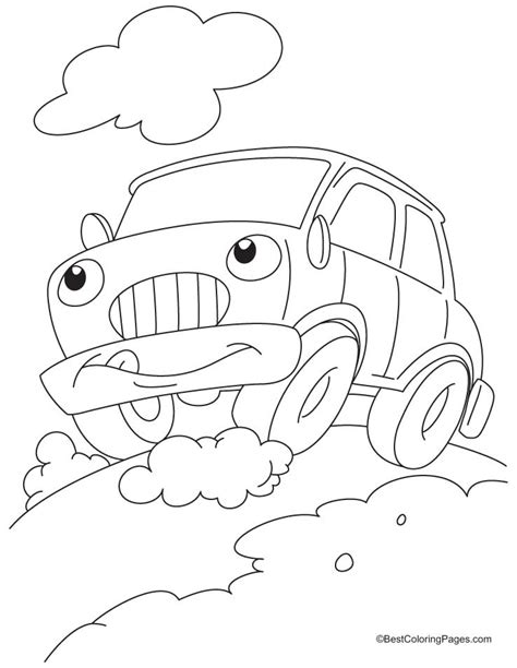 coloring pages of funny cars funny car coloring pages download free funny car