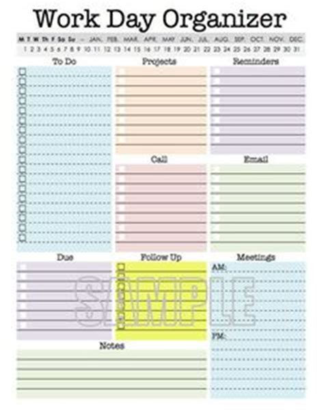 free printable office planner craft project to do list at home organization idea
