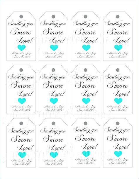 baby shower label template for favors free printable wedding favor tags template image