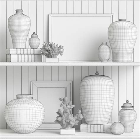 3d models decorative set williams sonoma home decor set 3