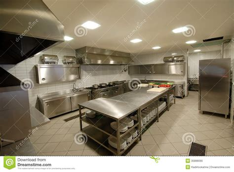 Modern Kitchen Restaurant by Modern Kitchen In Restaurant Stock Photo Image 35888090