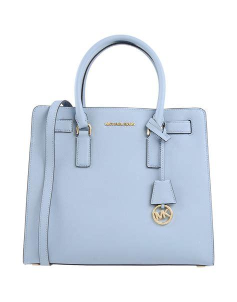 M Hael Kors Bag Blue lyst michael michael kors handbag in blue