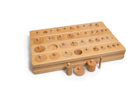 Knobbed Cylinder by Montessori Knobbed Cylinders