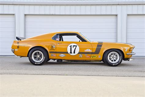 1970 ford mustang boss 302 trans am race car body in white bud 1970 ford mustang boss 302 kar kraft trans am racer muscle