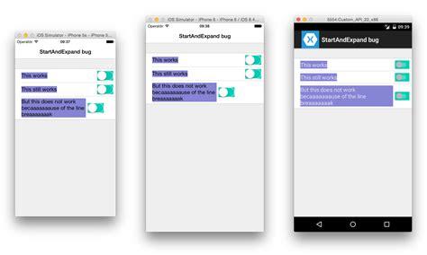 xamarin stack layout horizontal bug ios label with startandexpand horizontaloptions does