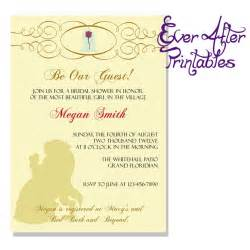 Disney Bridal Shower Invitations by And The Beast Invite Disney Wedding And